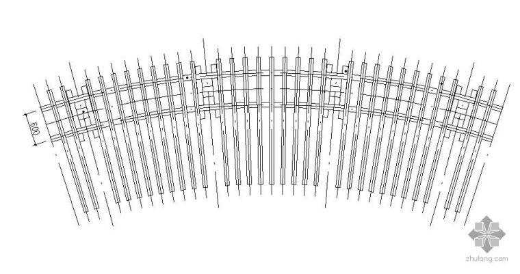 单臂弧形花架施工图