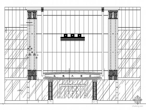 [永州]长城某大酒店建筑外立面建筑装饰施工图