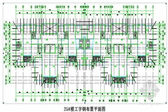 [河北]住宅楼工字钢悬挑脚手架施工方案(国企单位编制)