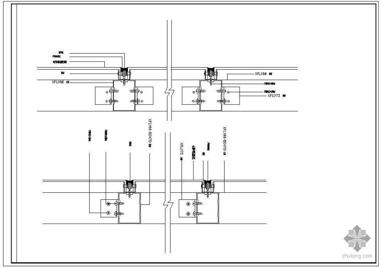 某隐框幕墙及铝塑板幕墙节点构造详图(七)_1
