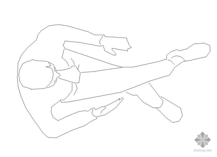 CAD俯视人物图例_1
