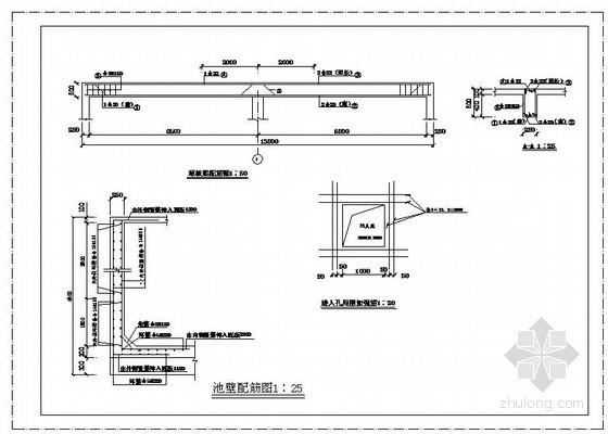 某500立方米蓄水池结构设计图