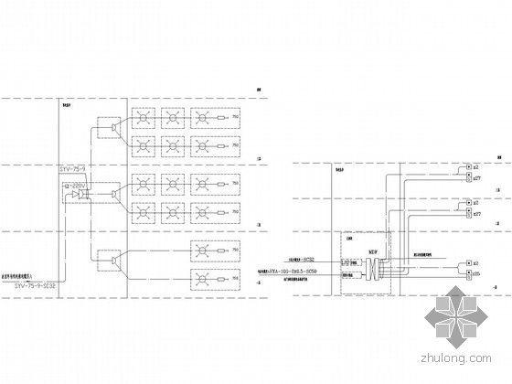 某中心医院康复中心及老干部病房楼电气施工图纸-弱电系统图