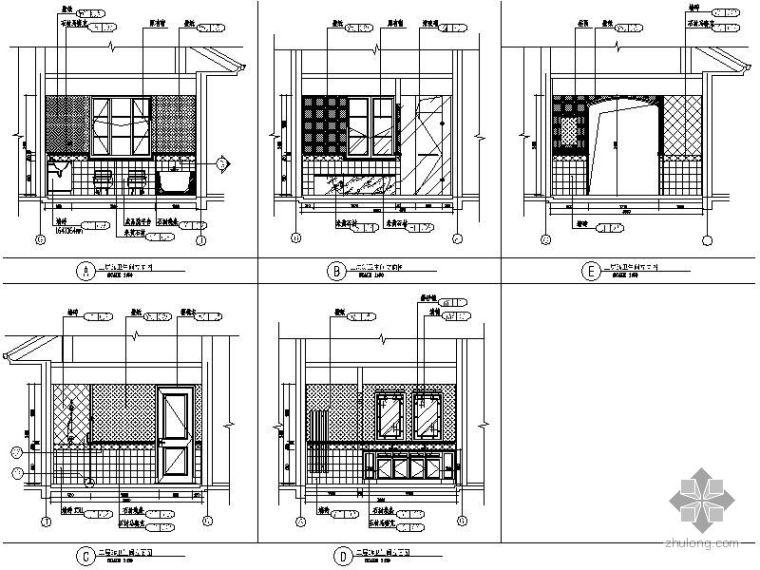 售楼处卫生间立面图_1