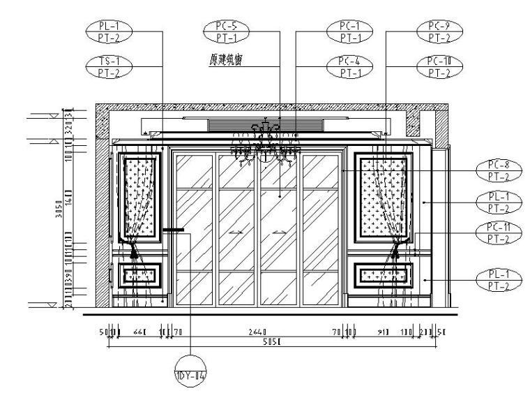 [成都]精品3层别墅样板间室内设计施工图(含效果图、材料表)_8