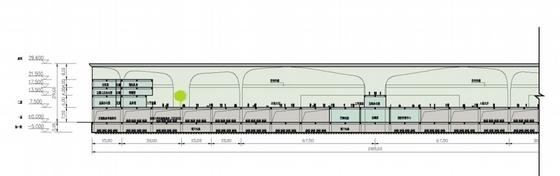[广东]珠三角地区核心口岸交通枢纽规划设计方案文本-珠三角地区核心口岸交通枢纽规划剖面图