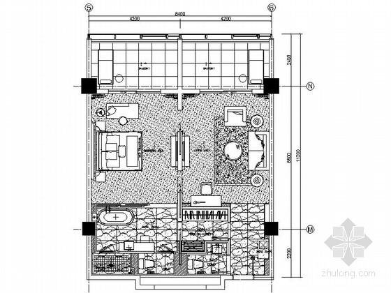 [南京]四星级酒店标准房室内装修施工图