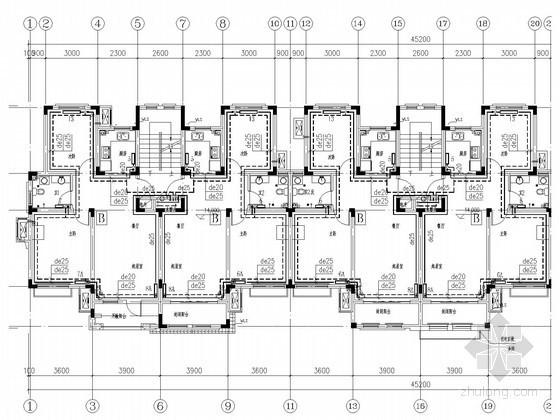 [山东]多层住宅建筑采暖通风排烟系统设计施工图(机械采暖系统)