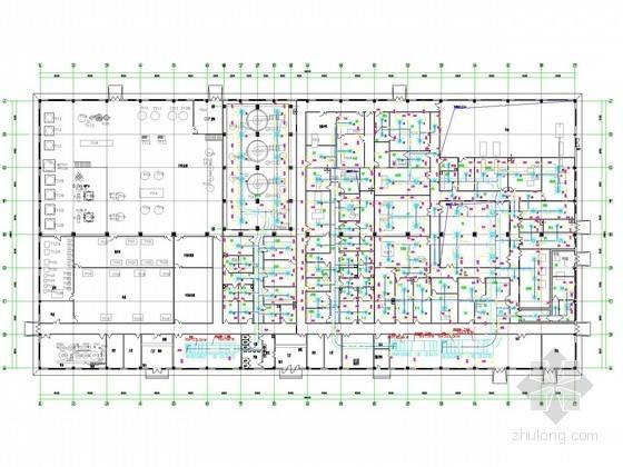 [安徽]多层制药厂净化空调通风系统设计施工图