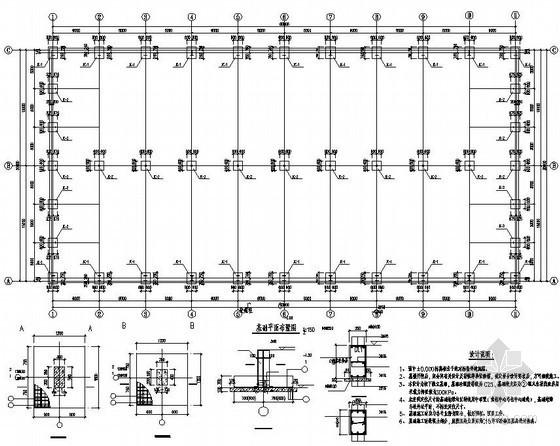30米跨轻钢结构农贸市场结构施工图