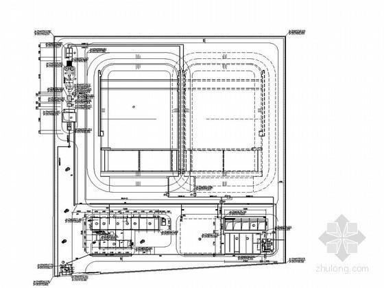 [山东]某工业园污水处理厂全套图纸(生化综合池快滤池接触池)
