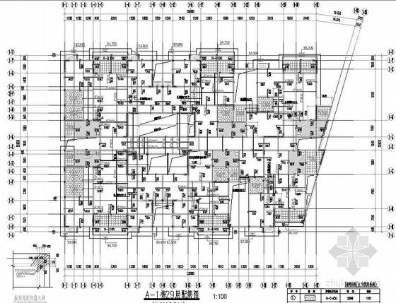 31层框剪住宅结构施工图(非抗震建筑)