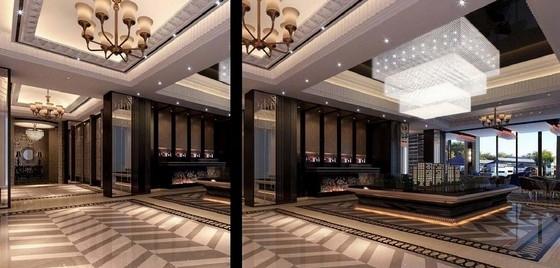 [河南]高档现代休闲会所室内软装方案图模型展区效果图