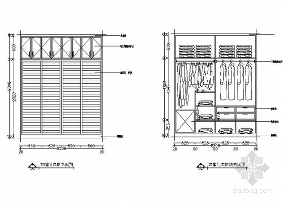 [深圳]时尚简约三室两厅室内设计CAD施工图-[深圳]时尚简约三室两厅室内设计立面图
