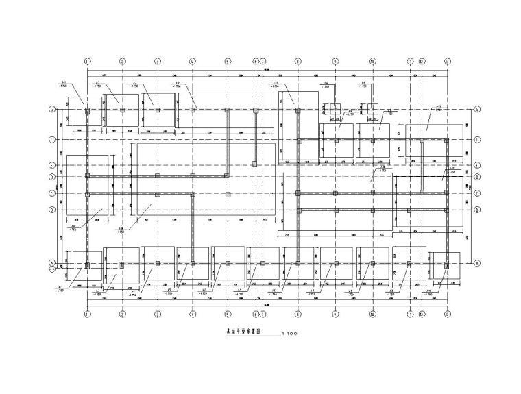 框架办公楼结构毕业设计(建筑图+结构图+计算书)