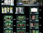多层办公楼全套施工图建筑结构水暖电节点效果图