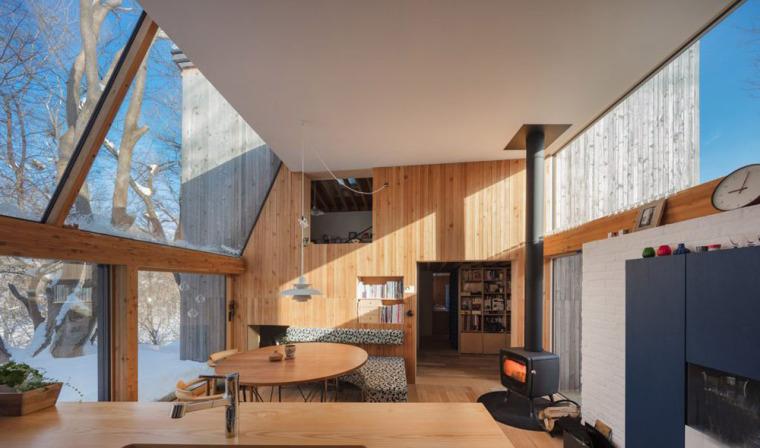 日本多层次空间木结构办公建筑内部实景图 (9)