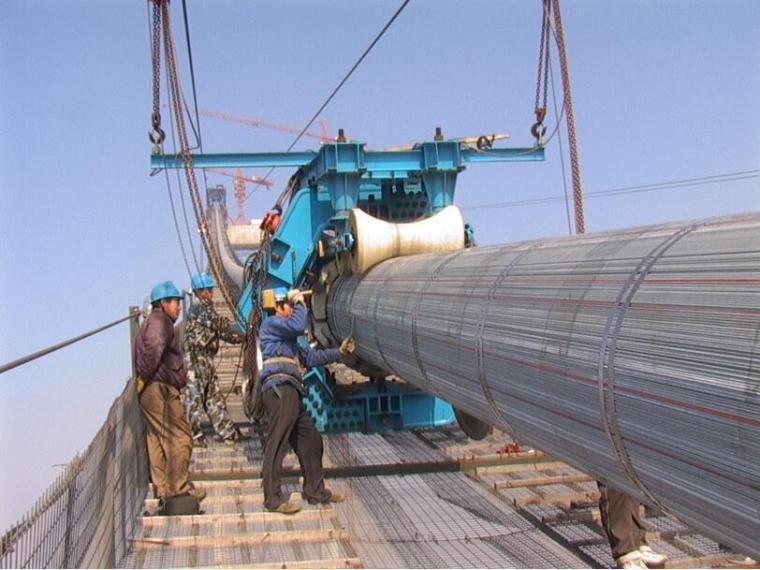 [甘肃]悬索特大桥缆索系统安装施工专项方案98页(4个主索鞍和4个散索鞍)