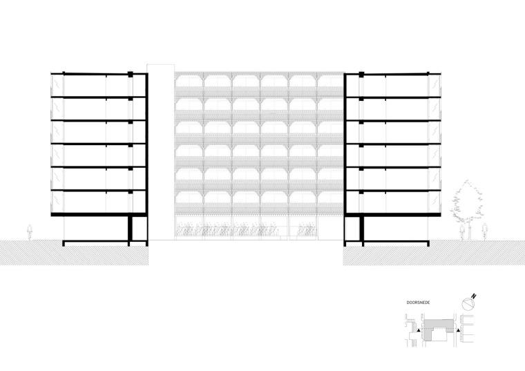 荷兰预制混凝土模块式的住宅-荷兰预制混凝土模块的住宅立面图(13)