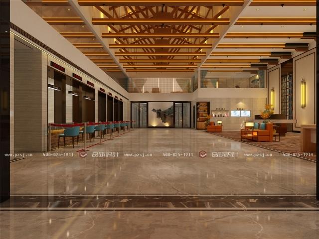 品筑出新作啦!内蒙古·兴安盟乌塔其银行室内设计效果图-09大厅.jpg