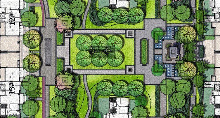中海山湖世家大区新中式景观设计案例赏析