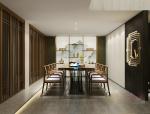 中式简约餐厅3D模型