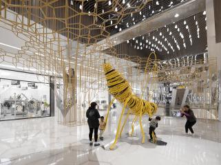 3D数据演绎蜂巢艺术装置