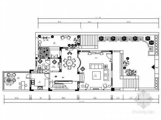 [苏州]返璞归真美式混搭风格三层联体别墅CAD装修施工图(含高清实景图)