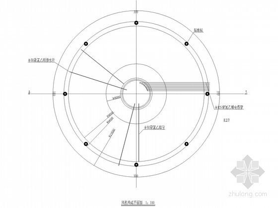 风力发电机组基础节点构造详图