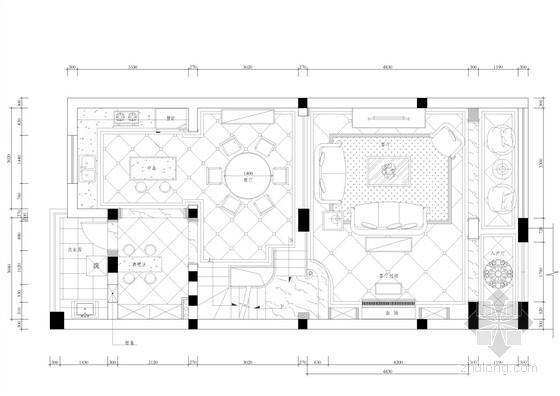 [上海]三层欧式小洋楼室内设计装修图