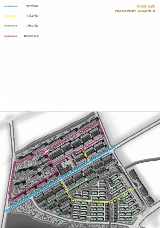 [苏州]托斯卡纳风格低密度别墅区规划设计方案文本(两种方案)-托斯卡纳风格低密度别墅区规划分析图