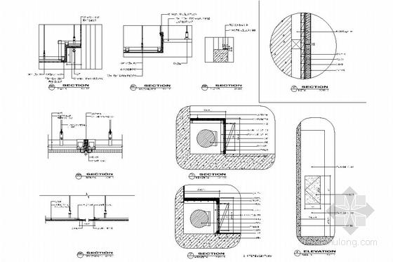 [苏州]现代教育理念实验小学装修施工图(含电气及给排水图) 通用节点图