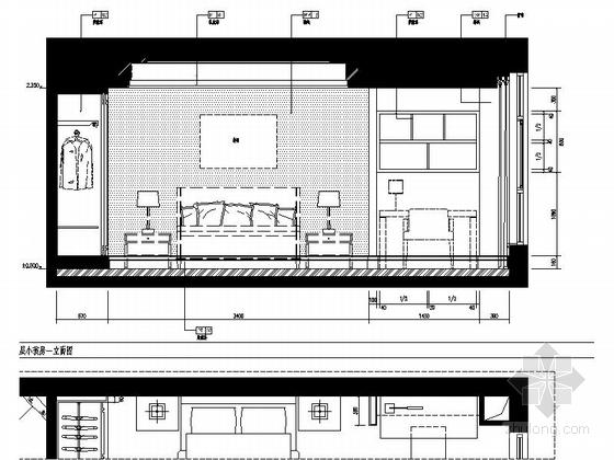 [浙江]某公馆时尚简欧三层别墅装修图(含效果)小孩房立面图