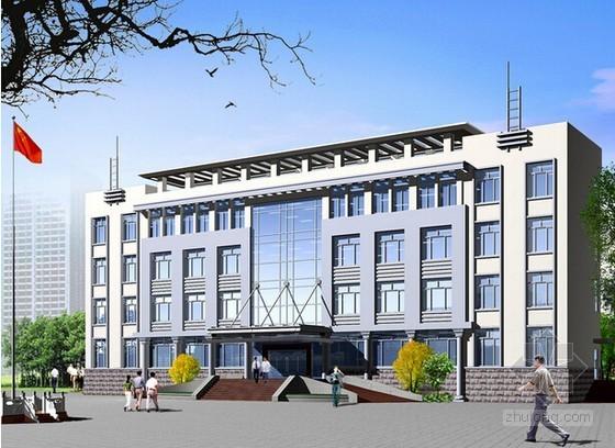 [附图纸]办公楼土建工程量计算及预算实例(2套)