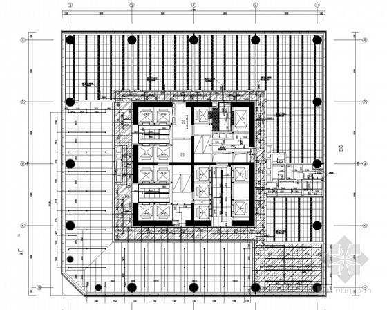 [陕西]超高层办公楼喷淋及给排水管道专项施工图