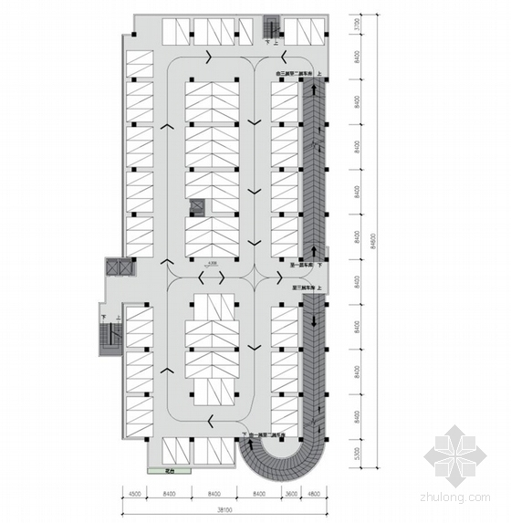 [深圳]高层简练立方体造型沿海口岸旅检大楼建筑设计方案文本-高层简练立方体造型沿海口岸旅检大楼建筑平面图