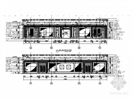[苏州]奢华欧式风格商务会所四层卧室休息区室内装修图(含效果) 走道立面