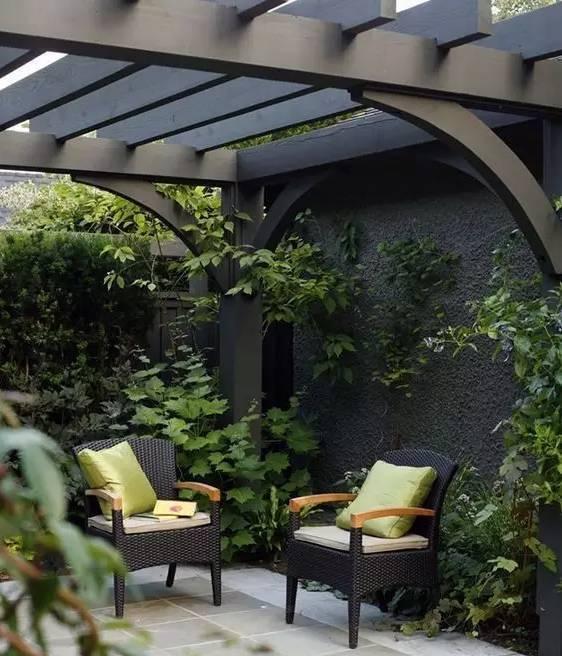 一座简单的花架,却美了整个院子