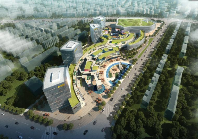 [上海]现代风格某知名地产办公综合体建筑设计方案文本