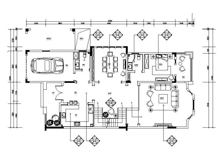 英伦风格别墅样板房设计施工图(含效果图)