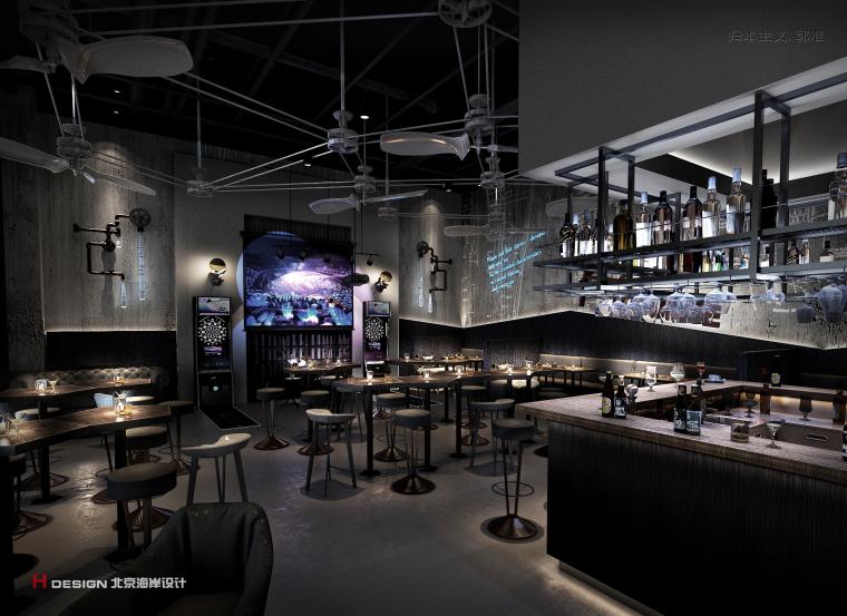咖啡餐厅设计,红树林度假世界H·Lounge酒吧_4