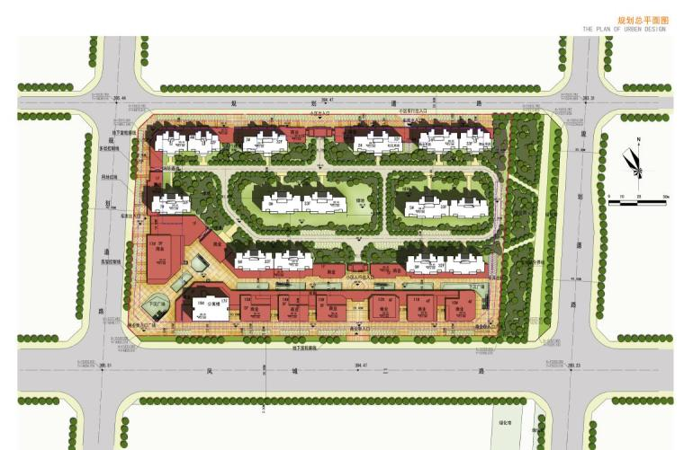 高层现代artdeco风格优质高端点式住宅楼建筑平面图