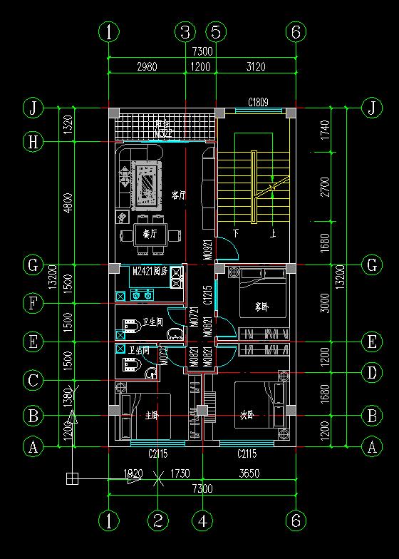 标准层-小户型农村住宅设计方案第1张图片