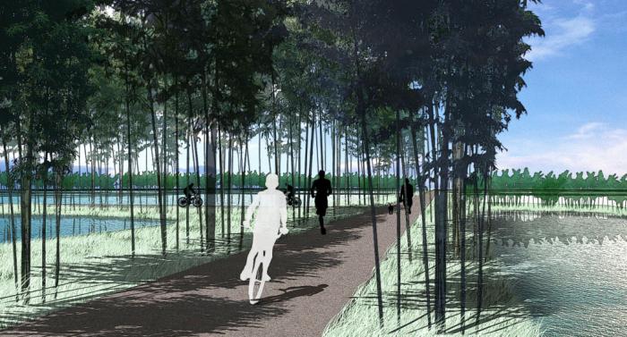 [上海]生态农业旅游庄园景观规划设计方案-休闲游步道效果图