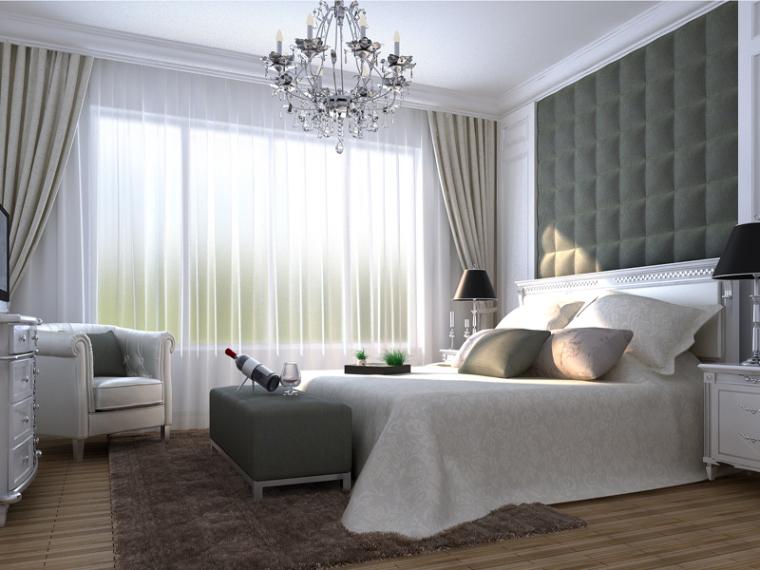 阳光清新卧室3D模型下载