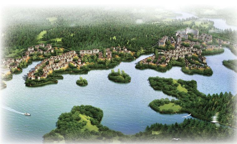 [四川]温泉之都大竹百岛湖整体规划及分区设计方案文本