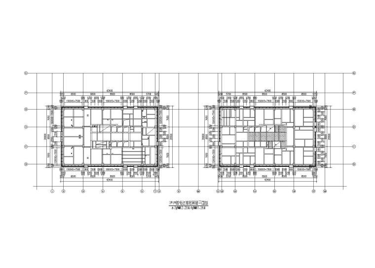 金融贸易中心幕墙工程施工图(2014)-塔楼避难层幕墙平面图