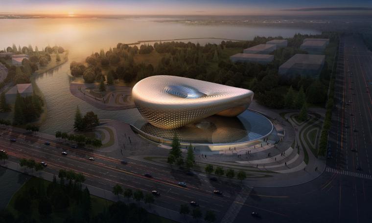 [湖北]汉中后现代风格生态塑形城市规划展览馆设计方案(PDF+CAD+JPG)