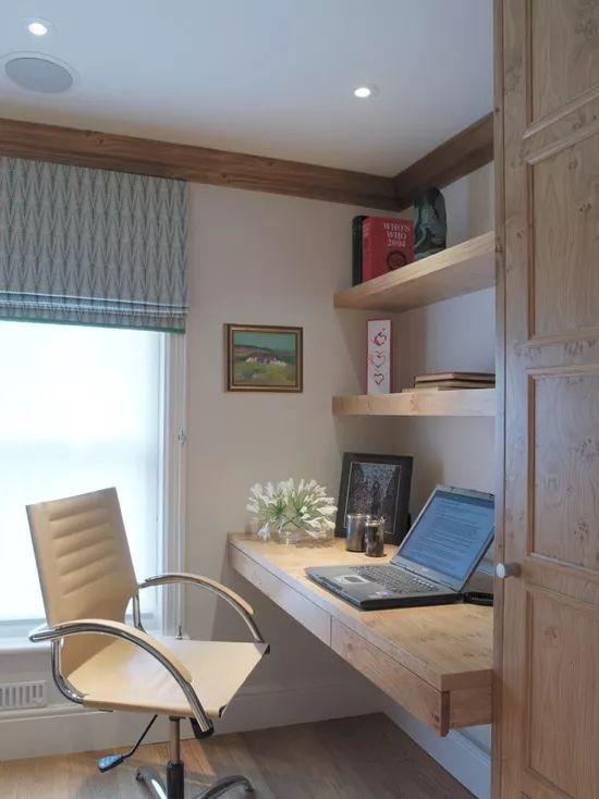 如何在家里挤出一间书房,这4种方案必须收藏!_19