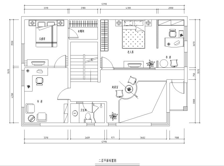 [广东]某高档三层别墅施工图及效果图